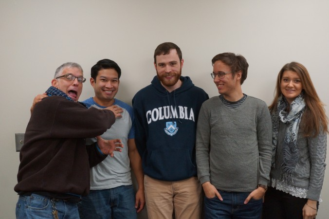 The Grober Lab 2014: (left to right) Dr. Matthew Grober, Kevin Thonkulpitak, Joe Bush, and Eric Schuppe